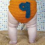 0-9 Numbers Crochet Diaper Cover Pa..