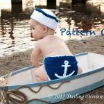 Anchor Diaper Cover, Sailor Hat, an..
