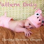 Pig Hat and Diaper Cover Crochet Pa..