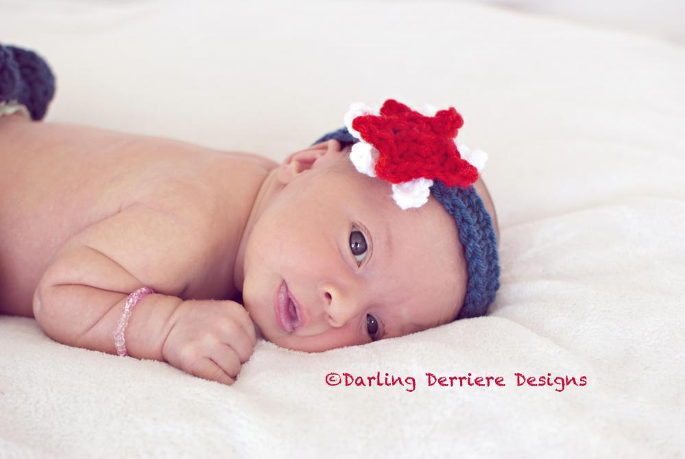 Crochet Star Headband Pattern