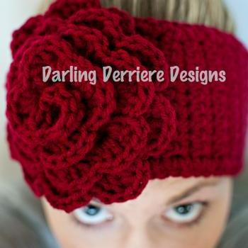 PDF Rose Flower Head wrap Pattern newborn-adult sizing