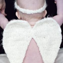 Angel Wings, Diaper Cover, and Headband Crochet Patterns