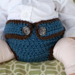 Button Strap Diaper Cover Crochet Pattern