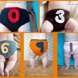 0-9 Numbers Crochet Diaper Cover Pattern
