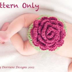 Flower Diaper Cover and Headband