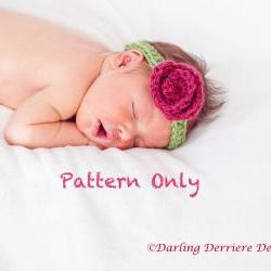 Rose Headband Crochet Pattern